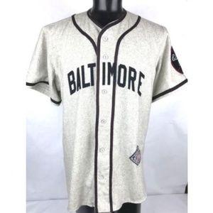 Baseball Jersey BALTIMORE ELITE GIANTS Large WOOL